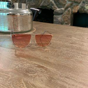 Sorrella Oversized Pink Ombré Aviator Sunglasses